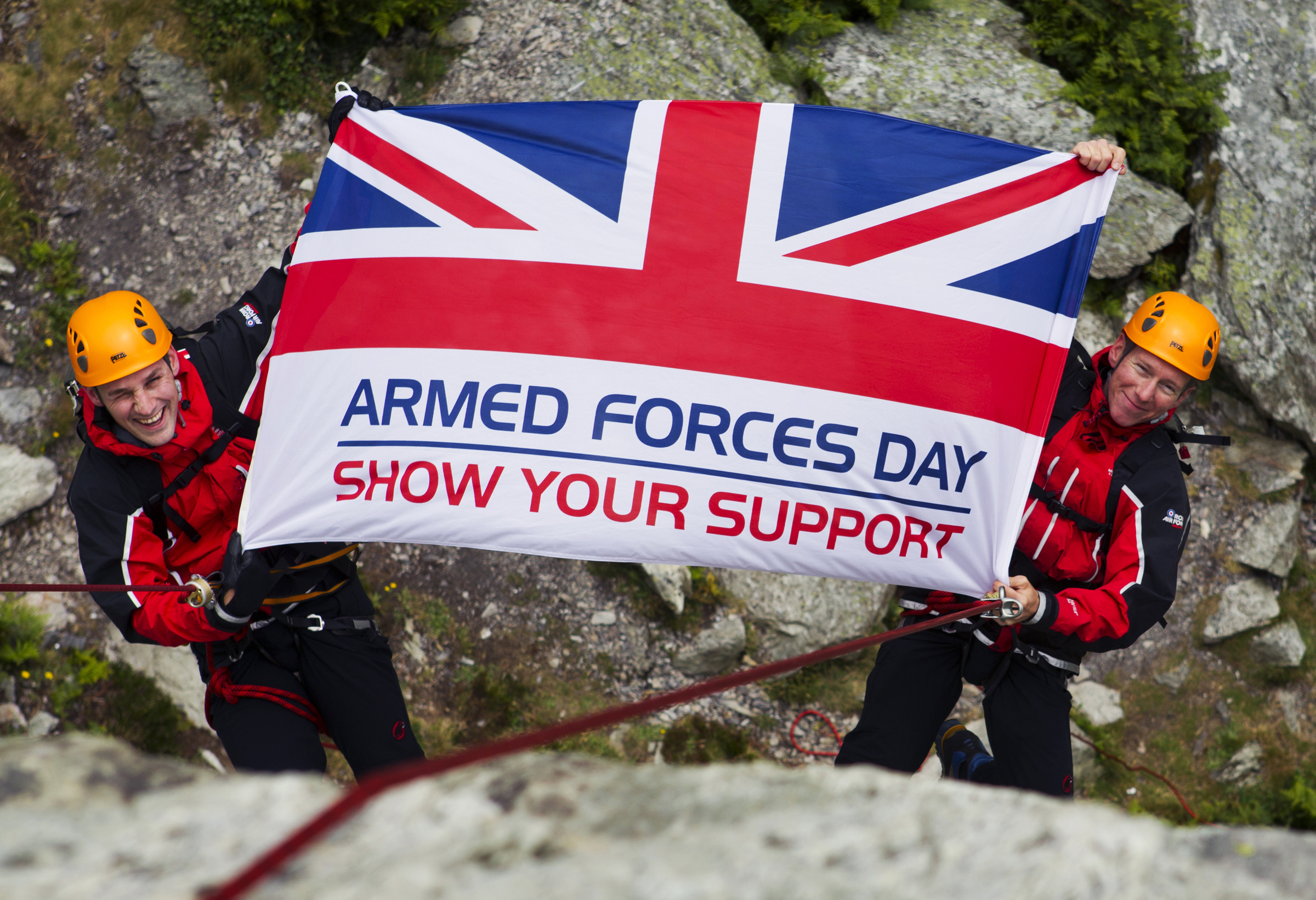RAF Mountain Rescue Team are Flying the Armed Forces Day Flag