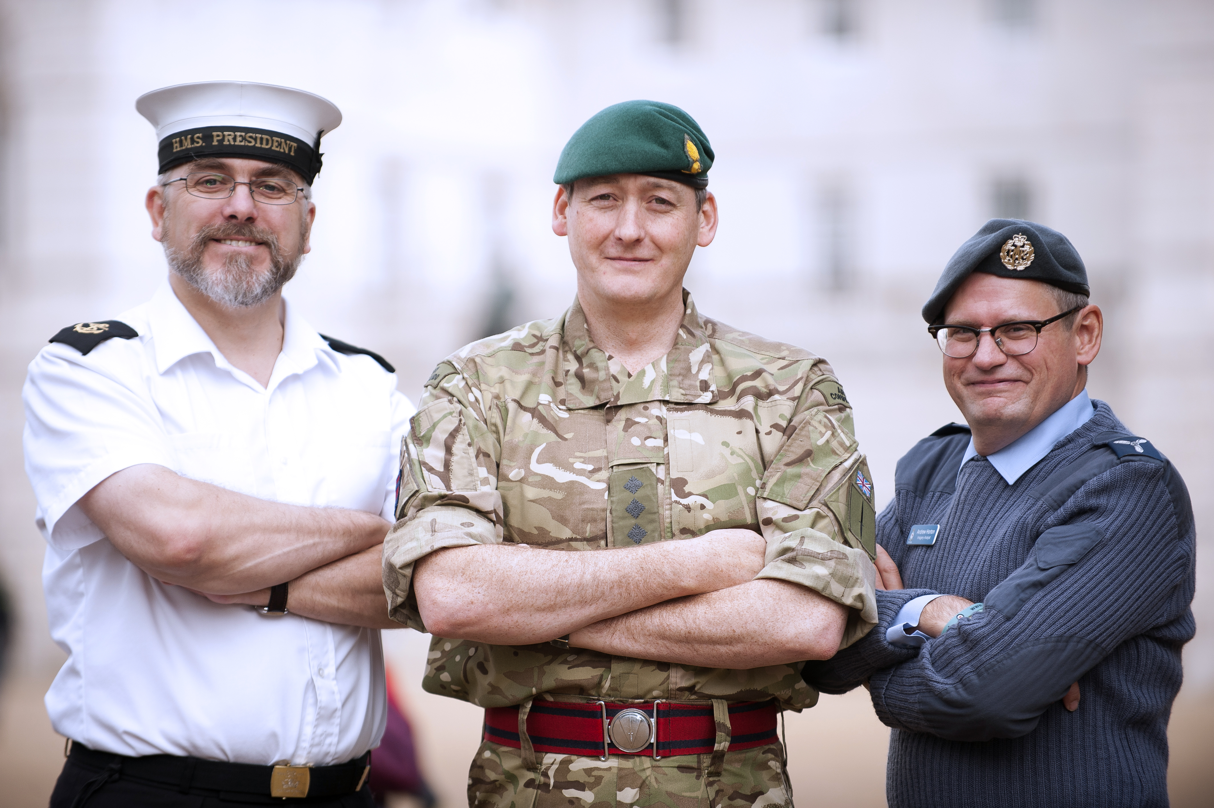 UK Reservists from Each of the Three Services